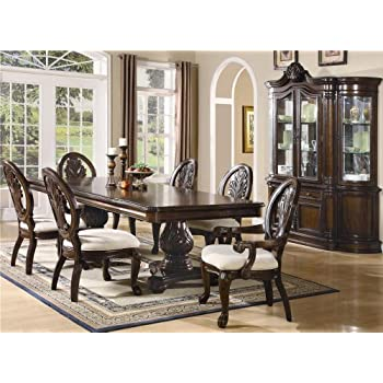 Exceptional Inland Empire Furniture Jordan Brown Cherry Solid Wood 7 Piece Double  Pedestal Rectangular Formal Dining Set