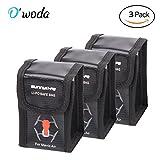 lipo protection bag - O'woda Fireproof Explosion-proof Lipo Battery Safe Bag Sleeve Lipo Battery Guard Pouch Sack Charge Protection Bag for DJI Mavic Air (3 pcs Small Size: 1 Pocket)