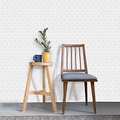 "Art3d 10-Sheet Peel and Stick Tile Backsplash - 12""x12"" Premium Anti Mold Kitchen Backsplash Peel and Stick Tile, White"