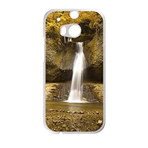 Personalized Creative Cell Phone Case For HTC M8,silk waterfall and glam autumn forest