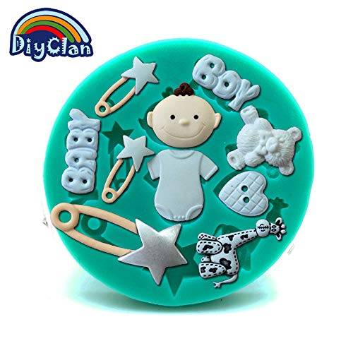 Promotion baby boy bear silicone fondant mold cake decorating tool bebe sugar craft chocolate kitchen baking mould F0096BB35