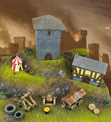 War World Gaming Medieval Siege Full Battle Set - 28mm Wargame Terrain Model Figures Diorama by War World Gaming (Image #5)