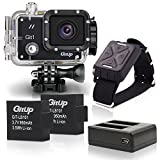 Action Camera [Upgraded Version] GitUp Underwater Sports, 12MP Ultra HD 1080p Camcorder - Outdoors Sport WiFi DV - Wide-angle Lens - LCD Display for Swimming, Skiing, Drifting, Surfing, Biking