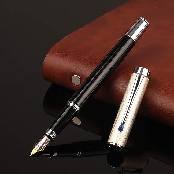 caligraf/ía escritura escuela suministros de papeler/ía estudiantes Meiqqm pluma estilogr/áfica de metal de lujo oficina color Fountain Pen 14cm para negocios
