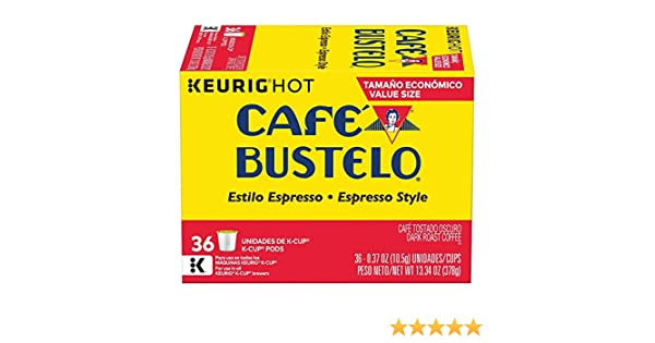 Cafe Bustelo Espresso Coffee k-cups - 36 ct: Amazon.com: Grocery & Gourmet Food