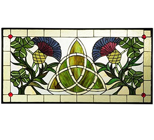 Meyda Tiffany Trinity Knot Stained Glass Window,