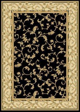 Central Oriental 2034KW69 Radiance Felix Black/Wheat 5-Feet 3-Inch by 7-Feet 7-Inch Area Rug (Rug Wheat Transitional)