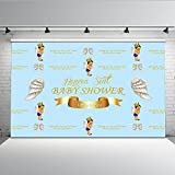 Mehofoto Baby Shower Backdrop Heaven Sent Little Prince Photography Backdrops Angel Theme Baby Shower for Newborns Baby 7x5 Professional Custom Photo Background