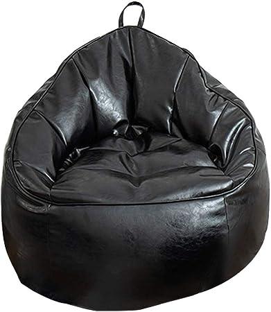 RIYIFER Funda De Puf, Funda De Silla De Puff Bean Bag con Asa Tela Impermeable De PU Adecuado para Dormitorio, Sala De Estar, Jardín,Negro,74 * 87CM: Amazon.es: Hogar