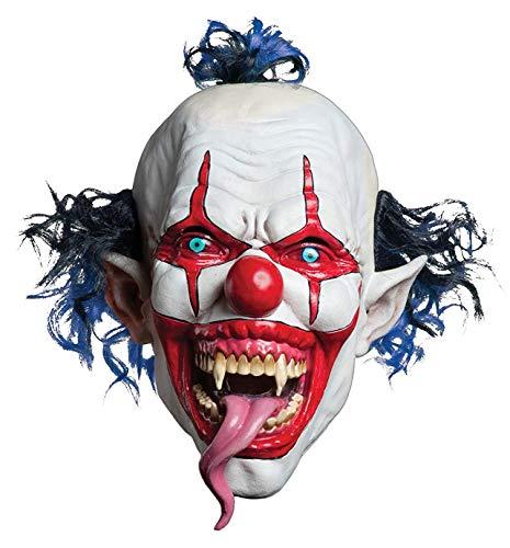 Morbid Enterprises Snake Tongue Evil Clown Mask, Red/White/Blue,