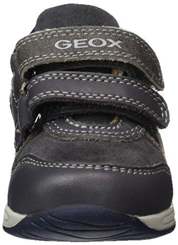Geox B Rishon Boy a, Botines de Senderismo para Bebés Gris (Grey/navy)