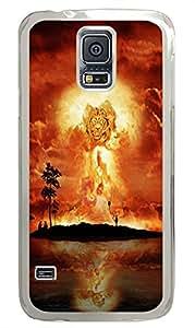 Samsung S5 thin case Lion Firestorm Art PC Transparent Custom Samsung Galaxy S5 Case Cover