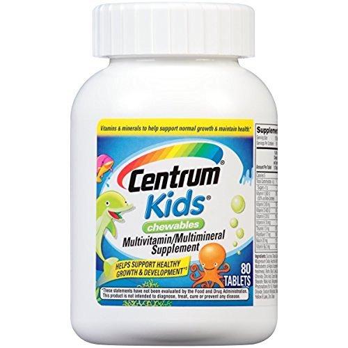 Centrum Kids Multivitamin/Multimineral Supplement (Cherry Orange & Fruit Punch Flavor MegaPack 240-Count Chewables)
