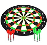 CCLIFE Magnetic Dart Set with 16 Inch Dartboard and 6 Darts