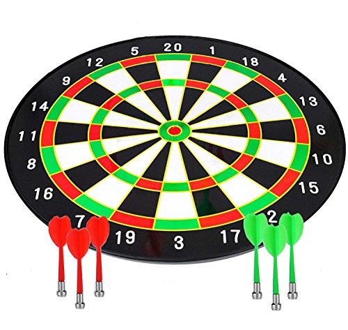 CCLIFE Magnetic Dart Set with 16 Inch Dartboard and 6 Darts by CCLIFE