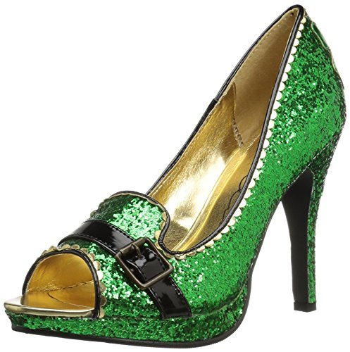 Patty Slide Pump, Green Glitter