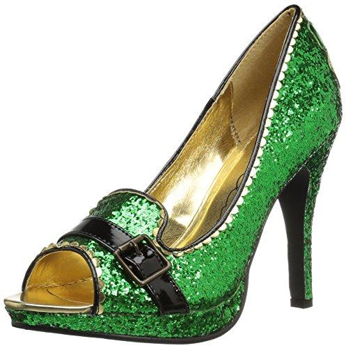 Patty Slide Pump, Green Glitter