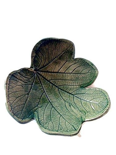 Ceramics Fig (Ceramic fig leaf bowl, trinket or ring dish, jewelry bowl)