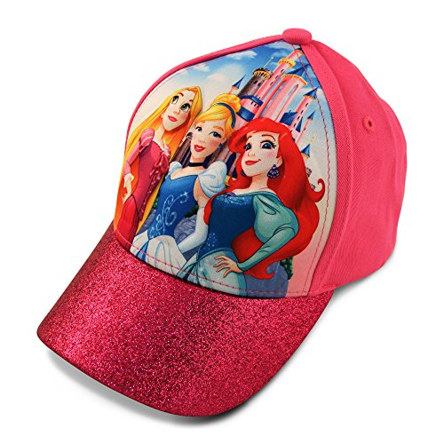 (Disney Little Girls Princess Character 3D Pop Cap, Rapunzel, Cinderella, Ariel Princesses, Age 4-7)