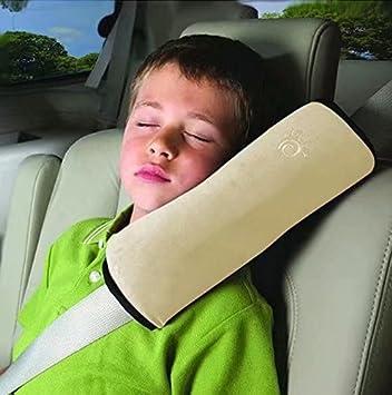 Bebé Niños Ajustable Correa De Seguridad Almohada Hombro Proteccion Cinturones De Seguridad De Coches Reposacabezas [Tener Un Buen Dormir En El Coche]