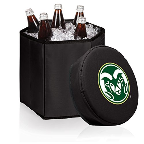 PICNIC TIME NCAA Colorado State Rams Bongo Insulated Collapsible Cooler, Black by PICNIC TIME
