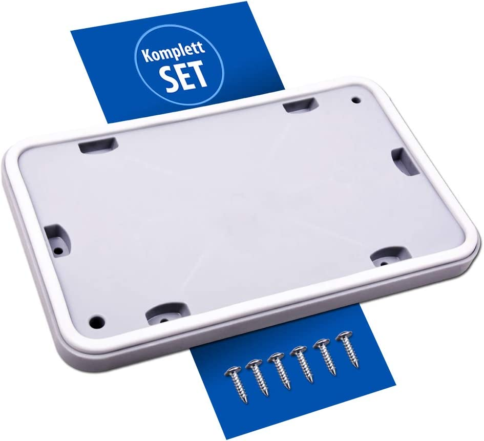Mantenimiento Tapa para intercambiador de Calor Tapa Service Marcas de Puerta para Secadora Bosch Siemens (Juego de reparación con 6Tornillos)
