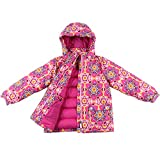 Momo Grow Big Girl's ''Cali'' Down Filled Snow Jacket - Pink S