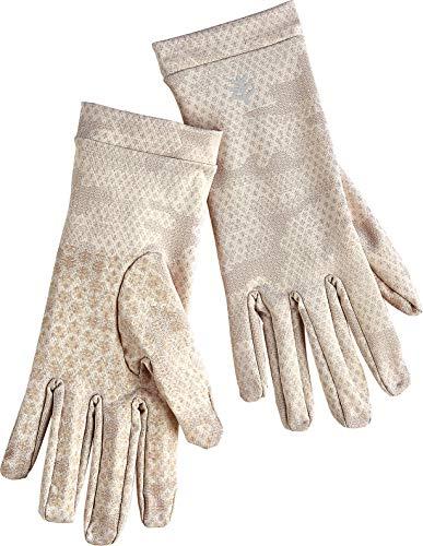 Coolibar UPF 50+ Unisex Sun Gloves - Sun Protective (Large- Tan Coolibar Camo)