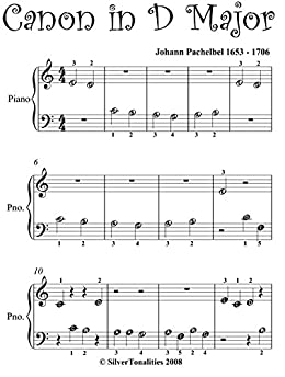 Canon in D Pachelbel Beginner Piano Sheet Music - Kindle