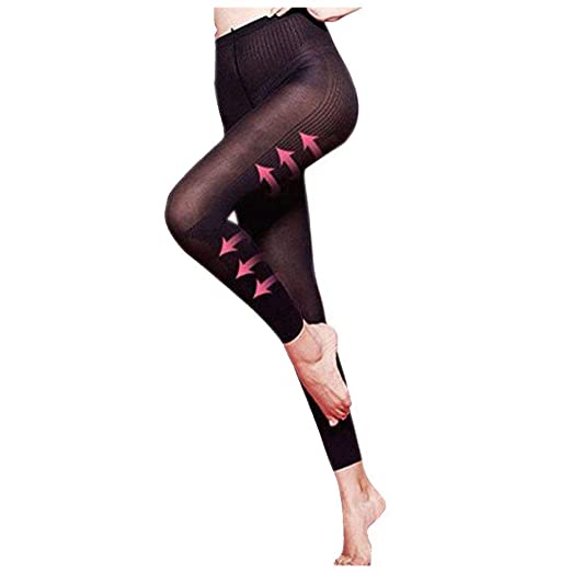 23617bfcee Amazon.com  Tummy Control Pants for Women High Waist Thigh Slimmer Body  Shaper pants  Clothing