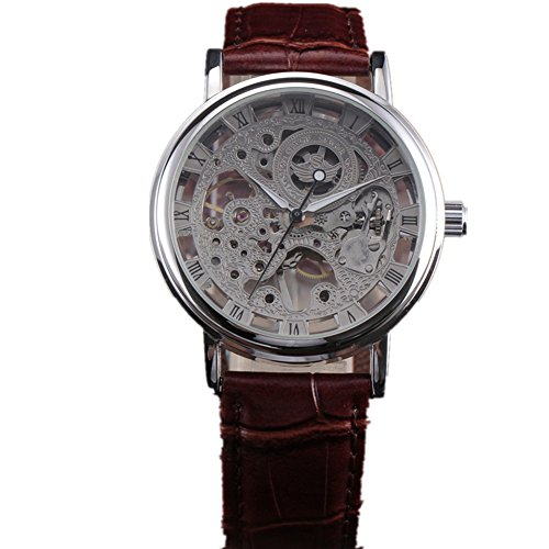SEWOR Leather Band Mechanical Wrist Watch - 2