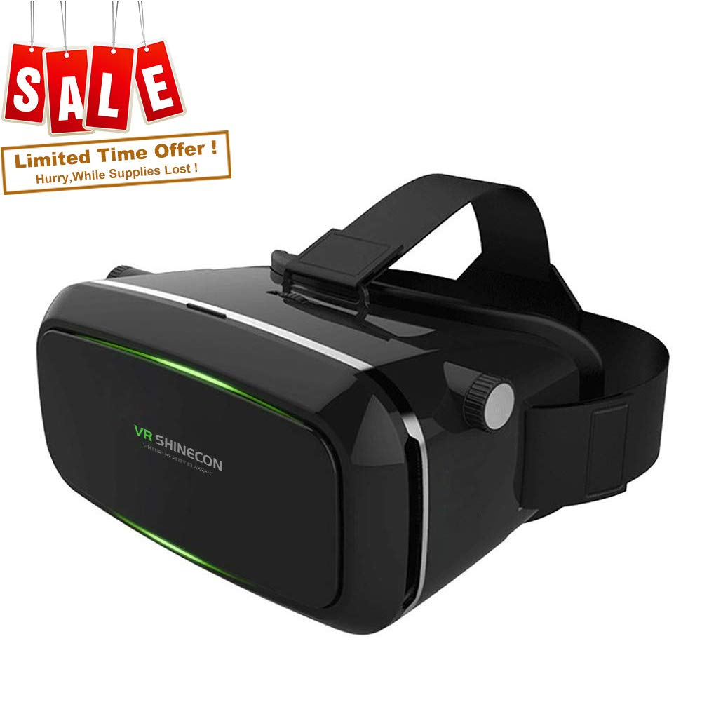 Virtual Reality Headset, VR SHINECON 3D VR Goggles VR Glasses for TV, Movies & Video Games - VR Headset Compatible with iOS, Android and Other Phones Within 4.7-6.0 inch VRG01P