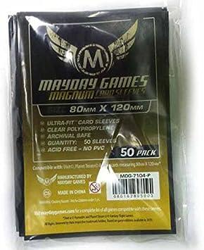 50 Mayday Premium 80 x 120 Black Backed Magnum Board Game Sleeves - Dixit: Amazon.es: Juguetes y juegos