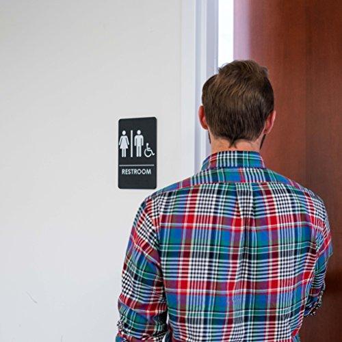 Men's and Women's Restroom Signs for Handicap Accessible Restroom, ADA-Compliant Bathroom Door Signs for Offices, by Rock Ridge (Image #2)