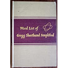 Word List of Gregg Shorthand Simplified