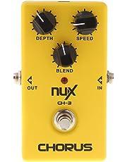 NUX CH-3 guitarra eléctrica efecto Pedal Chorus poco ruido BBD alta calidad True Bypass amarillo