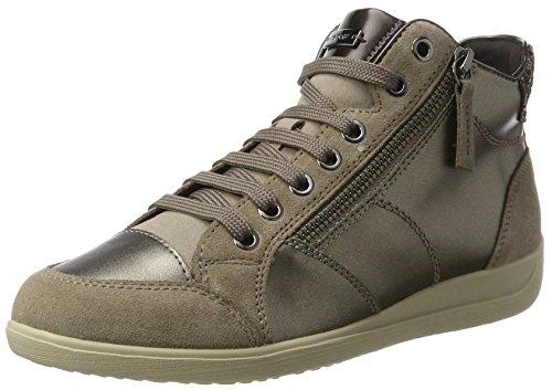 Lt B Sneakers Taupe Geox Myria Femme Hautes Marron FYxqRpwq