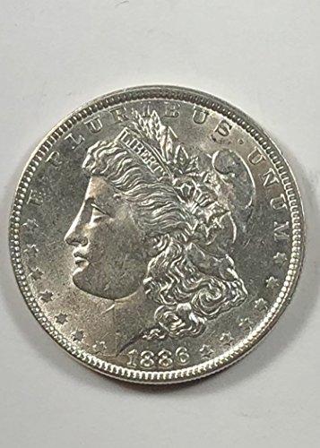 1886 Morgan Silver Dollar BU/AU Dollar Uncirculated