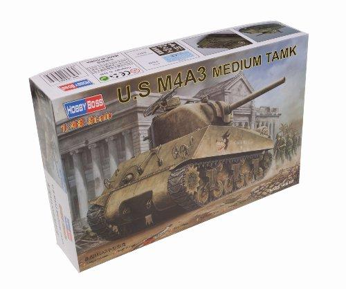(Hobby Boss US M4A3 Medium Tank Vehicle Model Building Kit)