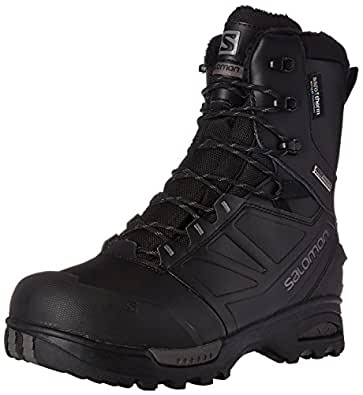 Salomon Men's Toundra Pro CSWP Snow Boot, Black/Black/Autobahn, 7 M US