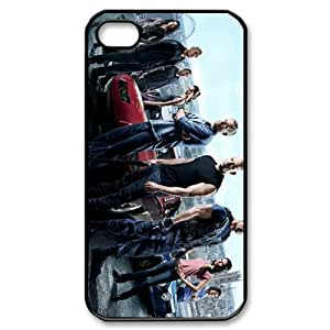 Wishing DIY Custom Cellphone Hard Back Case Cover For iPhone 4,4S-Fast And The Furious 6 Vin Diesel Vin Diesel Paul Walker Paul Walker Film/Black Shell