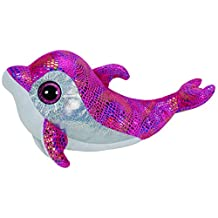 Sparkles Pink Dolphin Beanie Boo Large - Stuffed Animal by Ty (36814)