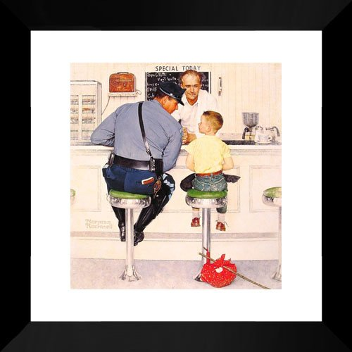 The Runaway 15x15 Framed Art Print by Rockwell, Norman