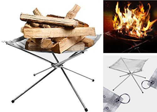 MINI-FACTORY Camp Fire Mesh Pit, Lightweight Portable Stainless Fire Stand Outdoor Garden Backyard Fireplace For Sale