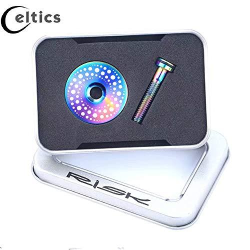1 Bolt Headset Screw Rainbow 1 Set Celtics Titanium Alloy Bicycle Headset Cap