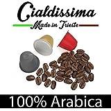 cialdissima 100 Kapseln Nespresso Kompatibel 100% Arabica, Espresso Italiano - DREI Mischungen, MISCHPAKET, Arabicus - 'Le Arabiche'