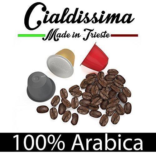 """204 opinioni per cialdissima 100 CAPSULE CAFFÈ COMPATIBILI NESPRESSO! """"LE ARABICHE"""" ARABICUS TRE"""