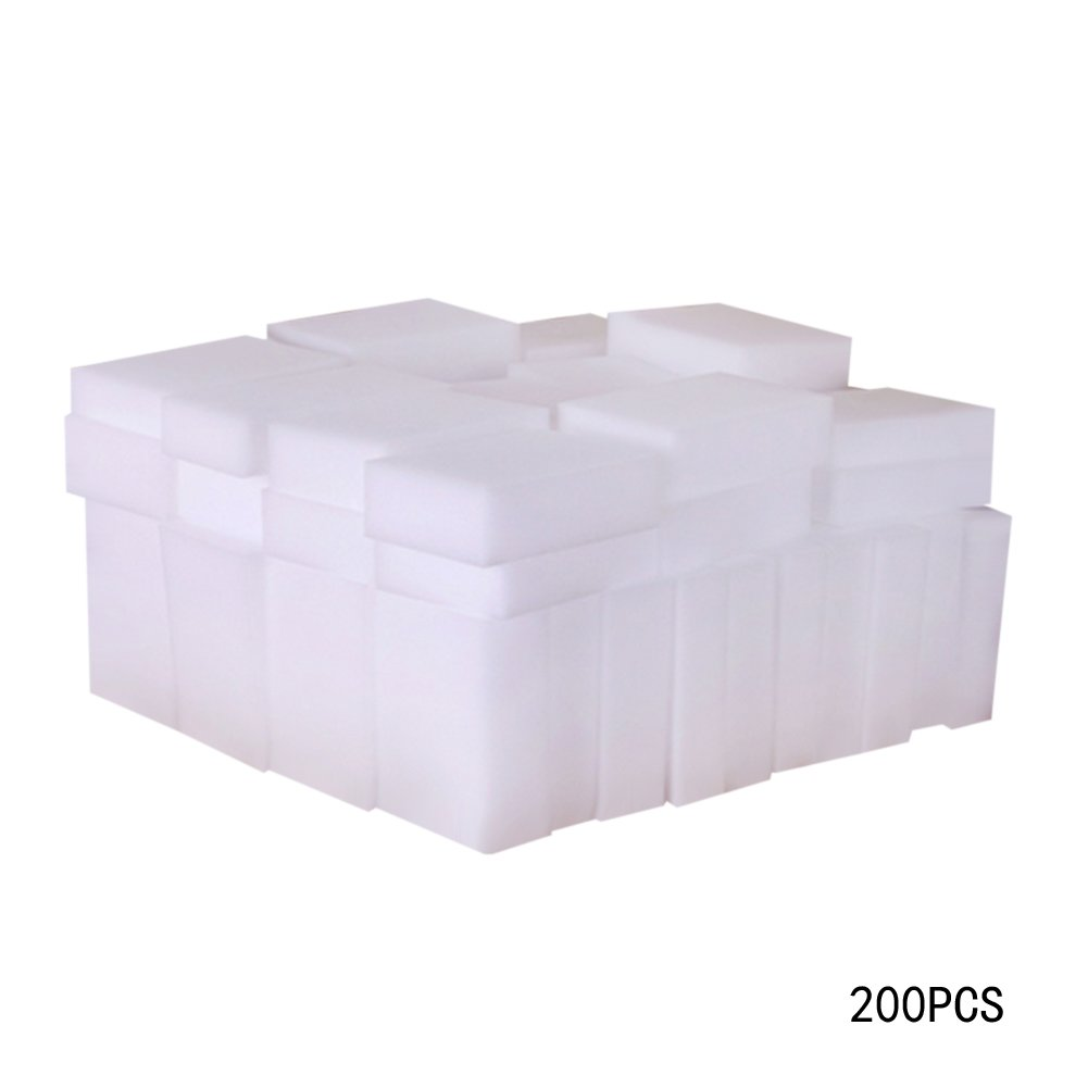 100pcs Magic Eraser Sponge for Cleaning Multi-function Magic Melamine Sponge Eraser for Kitchen Bathroom Car Childplaymate