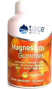 Trace Minerals, Supplement Magnesium Gummies Tangerine, 120 Count