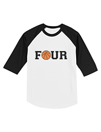 Amazon 4 Year Old Birthday Gift Basketball Fan Toddler Raglan 3 Sleeve Baseball Tee Clothing